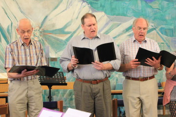 The St Margaret's Choir men enjoy Summer Praise!