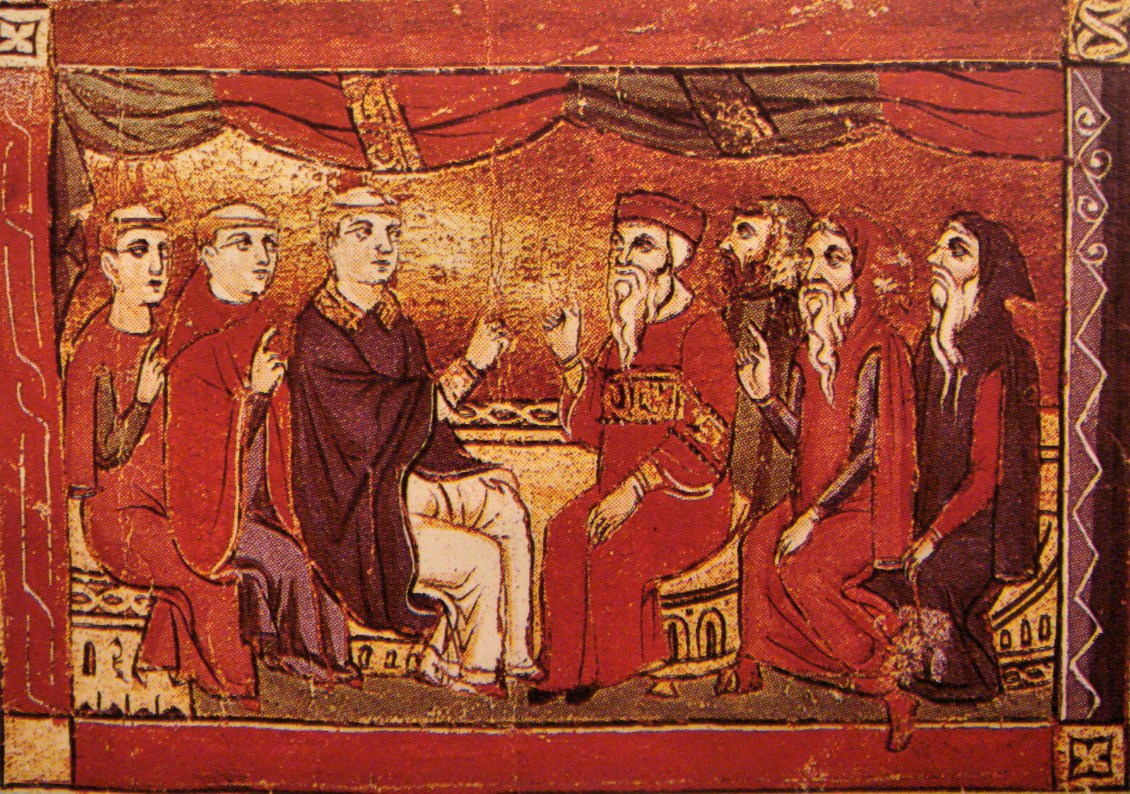 Debate between Catholics and Oriental Christians in the 13th century