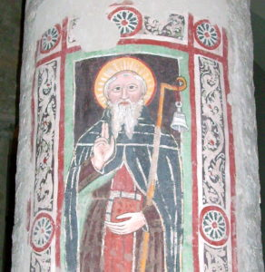 St Columbanus fresco in Brugnato Cathedral (Davide Papalini)