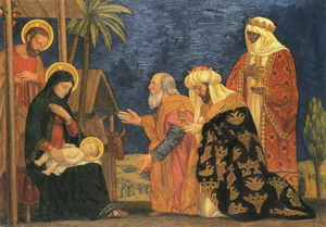 The Adoration of the Magi by H S Mowbray (1915)