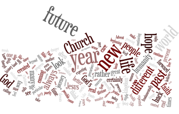 A word cloud of our Advent sermon
